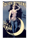 Folies Bergere, Moonlit Night Giclee Print