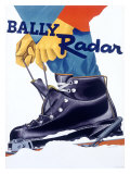 Bally Radar Snow Ski Boot Giclee Print