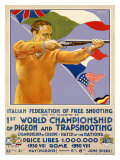 Skeet Shooting Competition Giclee Print