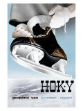 Hoky Ice Skating Shoe Mart Giclee Print