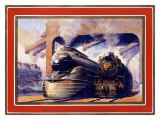 Pennsylvania Railroad, Steam Locomotive Giclee Print by Grif Teller