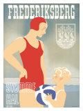 Frederiksberg Swim Natatorium Poster Lámina giclée
