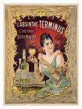 Absinthe Aperitif Liqueur Giclee Print