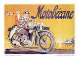 Motobecane Motorcycle Reproduction procédé giclée