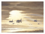 USN A4 Skyhawks F8 Crusaders Giclee Print by Bill Northup