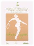Roland Garro Tennis Championship, c.1990 Giclee Print