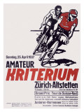 Swiss Kriterium Bicycle Race Poster Lámina giclée