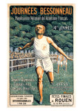 French Sports Federation, Running Giclee Print