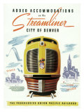 Union Pacific, Streamliner Denver Giclee Print
