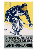 Finnish Snow Ski Championship Giclee Print