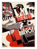 Revolución española, fuerza laboral Lámina giclée