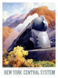 New York, Central Railroad Locomotive Giclee Print