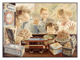 Children Looking Through Bakery Window Giclee Print