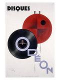 Odeon Audio LP Records Giclee Print