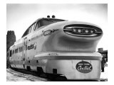 New York, Central Railroad Bullet Train Giclee Print