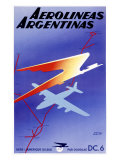 Argentina Airlines Giclee Print