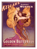 Golden Butterfly Illusion Lámina giclée