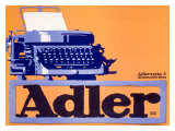 Adler Typewriter Giclee Print
