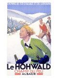 French Le Hohwald Ski Resort Poster Lámina giclée