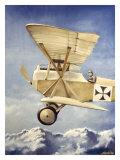 WWI, German Fokker Biplane Giclee Print by Robert Mascher