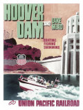 Union Pacific, Hoover Dam and Lake Mead Giclee Print