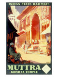India Railways, Krishna Temple Giclee Print