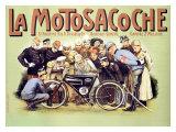 La Motosacoche Bicycle Engine Wydruk giclee
