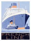 French Line, Ile de France Giclee Print
