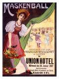 Maskenball Union Hotel, Zurich Giclee Print