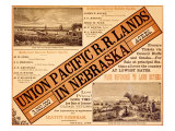 Union Pacific, Nebraska Railroad Land Giclee Print
