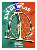 Jeux de Velos Bicycle Expo Giclee Print