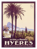 Travel to Hyeres France Giclee Print