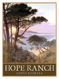 Hope Ranch Beach, Santa Barbara Giclee Print