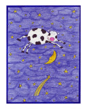 Cow Jumped Over The Moon Giclee Print by Leighann Hill