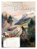 Stansstad Engelberg Railway Train Giclee Print
