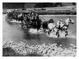 Stagecoach River Crossing Giclee Print