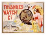 Tavannes Watch Company, Geisha Giclee Print