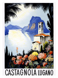 Castagnola Lake Lugano Resort Giclee Print