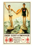 Every Boy Scout a Swimmer Giclee Print