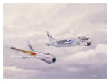 USN Navy VF24 F8 Crusader Jet Giclee Print by Bill Northup