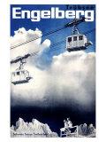 Engelberg Ski Giclee Print
