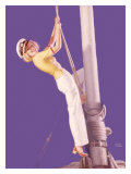 Pin-Up Girl: Sailboat Sailor Giclee Print by Earl Moran