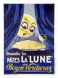 Les Pates la Lune Reproduction proc&#233;d&#233; gicl&#233;e