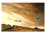 WWI, Nieuport Biplane Albatros Giclee Print by Bill Northup