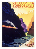 Visit Yugoslavia by Railway Giclee Print