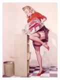 Pin-Up Girl: Sexy Office Giclée-tryk af Gil Elvgren