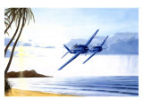 WWII, Grumman F6F Hellcat Hawaii Giclee Print by Bill Northup