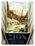Union Pacific, Zion Canyon Giclee Print