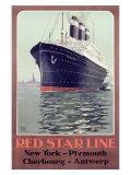 Red Star Oceanliner Giclee Print
