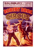 Robert Brothers Circus: The Boxing Kangaroo Giclee Print